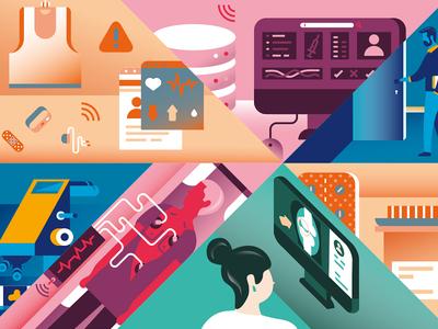 Details No.1 - Medicine Future & Today heart data computer monitor today future media people magazine hospital digitization medecine
