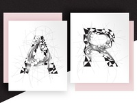 Black & White Letters
