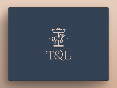 T&L logo unicorn carousel icon logotype logo horse
