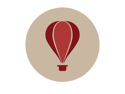 Hot air balloon logo adobeillustrator logodesign