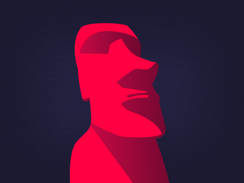 Experimental × Moai illustration exploration easter island texture color illustration statue moai experimental