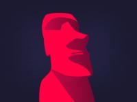 Experimental × Moai illustration