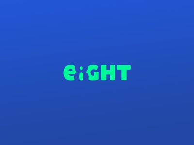 Eight inverted 8 number negative space typography eight