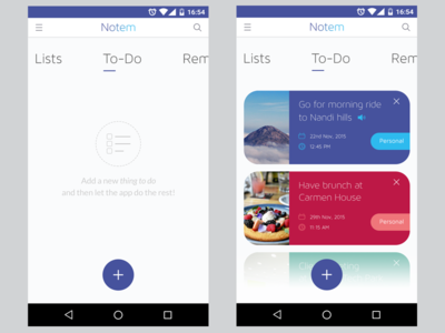 Notes App Concept card layout android notes mobile