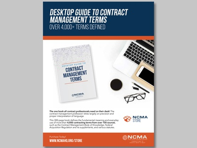 Desktop Guide to Contract Management Terms Ad