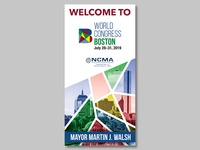 Welcome Banner for World Congress 2019 in Boston, MA