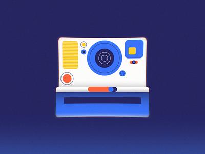 Polaroid Animated 2d animation vector loop photography polaroid
