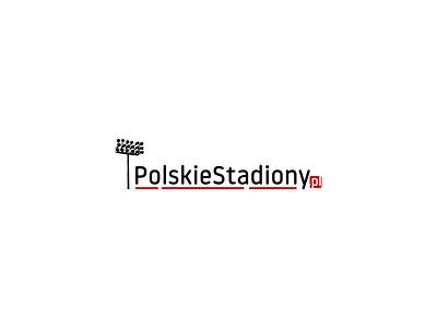 PolskieStadiony.pl graphic design typography illustrator website flat minimal vector logo branding