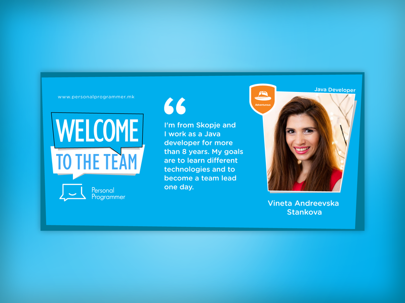 Welcome new employee web banner