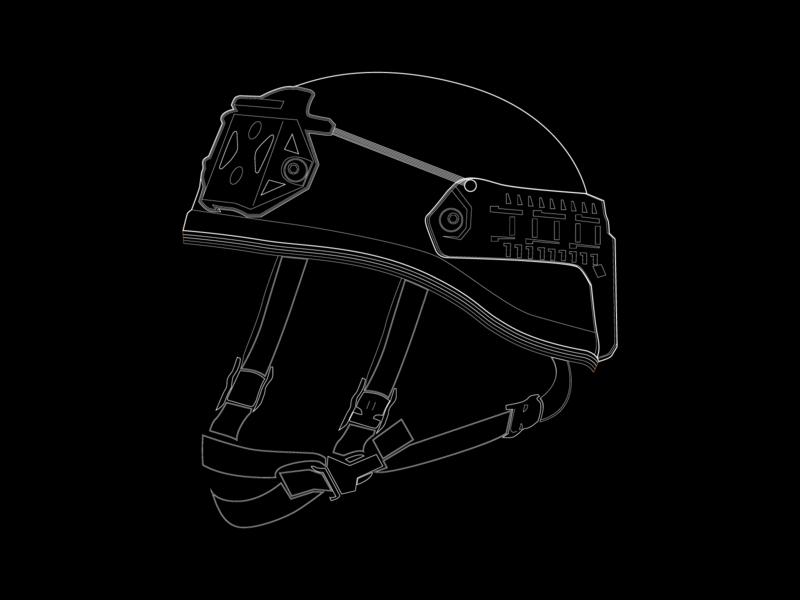 Tactical helmet mission ready sketch illustration design vector graphic design lineart product sketch illustration