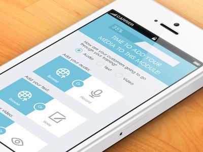 Virtual Classroom Web App ui iphone app blue interface menu mobile class virtual web service