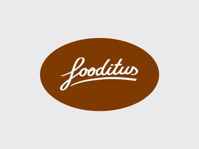 Fooditus Logo Design hand logo design brand concept drawn letter typography