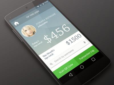 Tipping App Ui Design Showcase ui iphone app blue interface menu mobile android smartphone