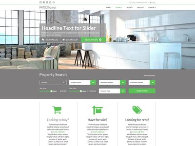 PANOhome Web Design realestate web design ui responsive modern platform sell buy property