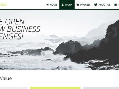 Website Redesign company web design ui responsive modern organization