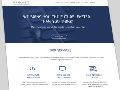 Mignix New Website business development company design web