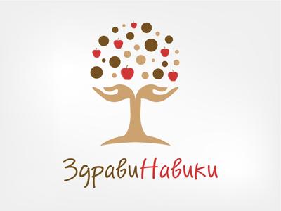 Logo Zdravi Naviki graphic design live health tree concept logo