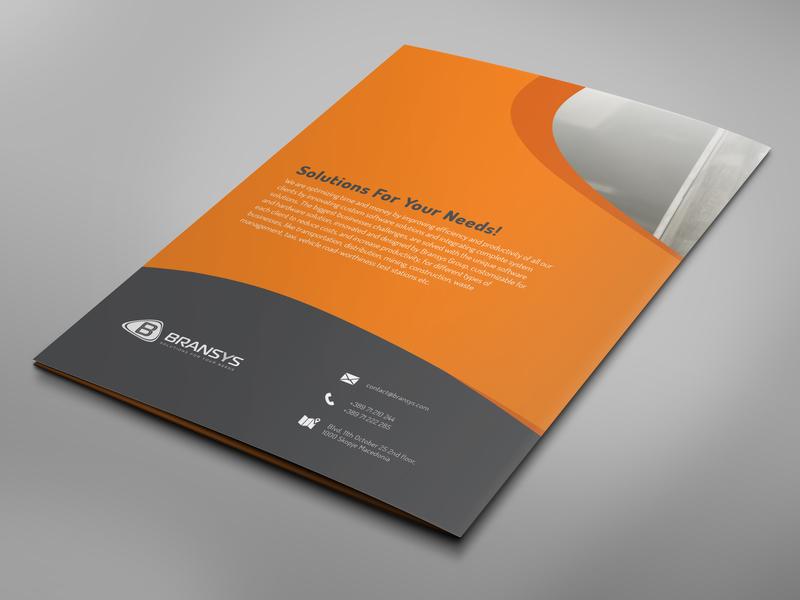 Bransys Paper Folder Backside professional design design graphic stationary design corporate folder paper