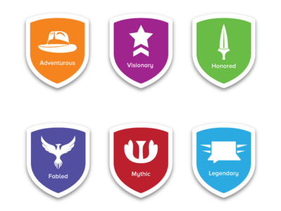 Loyalty Scale Badges mark vector clean icon illustraion design symbol badges