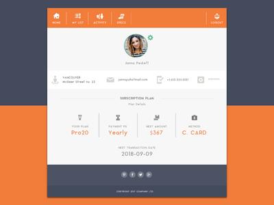 Interface Design for New Social Media Website ux design social media mobile concept app interface web ui design
