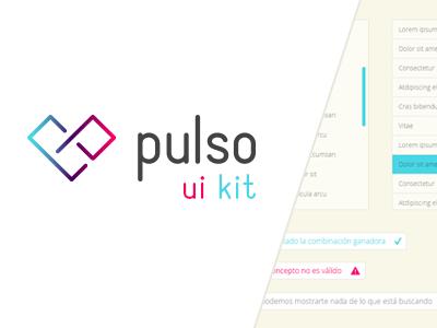 Pulso - UI Kit ui ui kit navigation interface slider list mail form kit buttons notifications flat