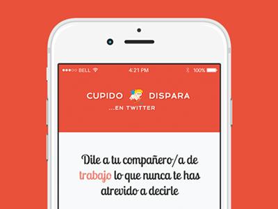 Cupido Dispara valentine day twitter cupid love logo app webapp red web mobile responsive