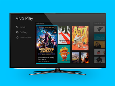 IPTV UI Videolibrary vivo interface smart tv mediaroom vivo play brasil ui tv iptv