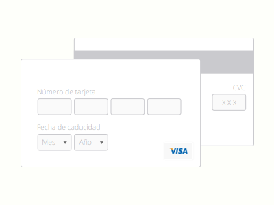 Minimalist credit card form