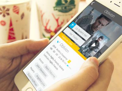 Movistar TV Go tv detail page movie video app ux ui mobile