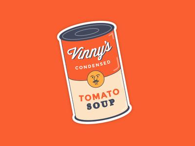 Vinny's Tomato Soup warhol soup illustration tomato
