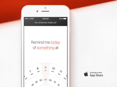 Announcement #1: Something is coming soon… coming soon ios rememo easy to use own product clean simple app reminder