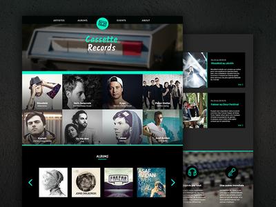 Cassette Records website musicians music label music