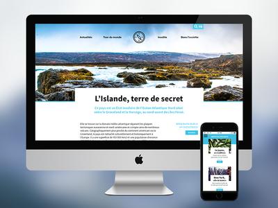 Journal de Bord responsive travelling journey article journal magazine webzine