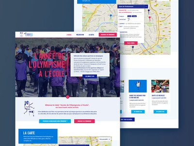 Olympic Year at School interactive map informations sport