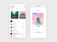 Music app exploration ui exploration ui design ui songs app song music player music app music mobile app app design app