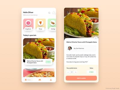 Restaurant concept app foodie ux ux design design ui ui design concept app restaurant