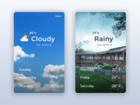 Daily UI 4/7- Weather Cards