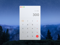 Daily UI 6/7 - Calculator for Mac