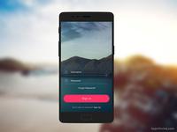 Free Mobile Login PSD