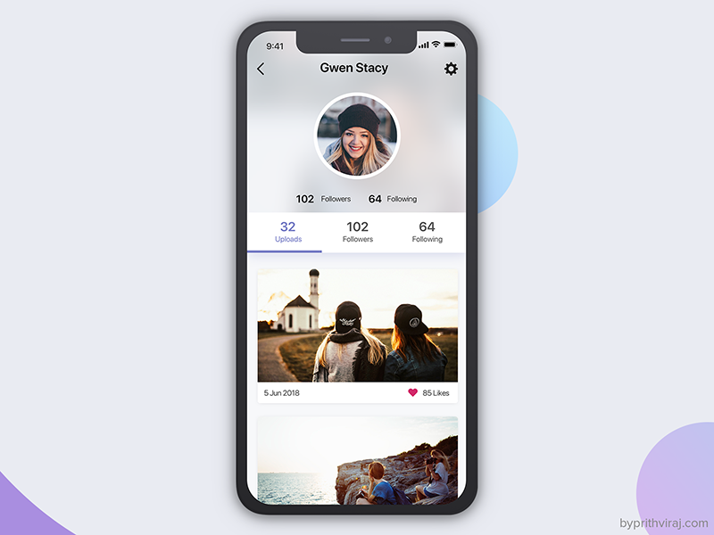 Photo Sharing App-2 ui ux photo sharing photo app app ui sketch app ios iphone x