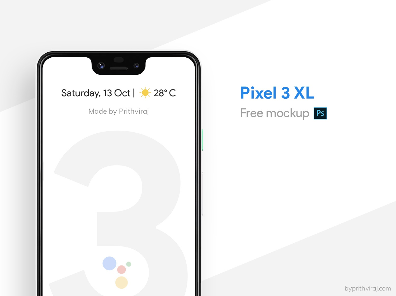 Pixel 3 XL Free Mockup psd photoshop google download free mockup mockup pixel pixel 3 xl pixel 3 free freebie