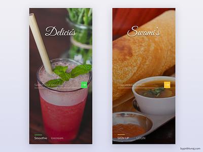 Food app landing page ui design food app landing page app page ui ux sign up login