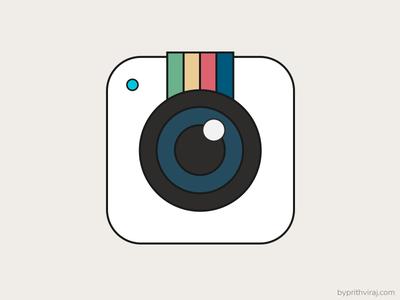 Retro instagram icon iconography colors retro icon camera instagram flat