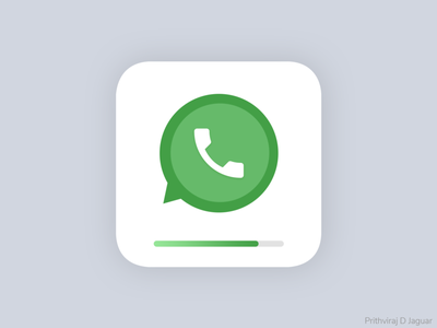 Installing WhatsApp launcher icon android ios app icon progress icon installation whatsapp