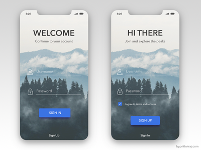 Login for iPhone X - Free freebie ui design transparent login login challenge ios iphone x sign in sign up login