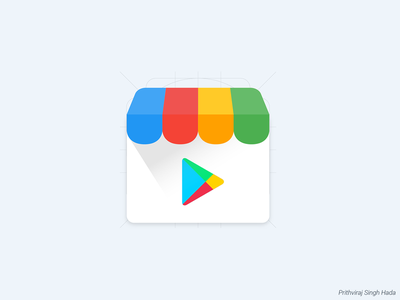 Play Store Icon android icon app icon icon iconography material design google play store play store icon