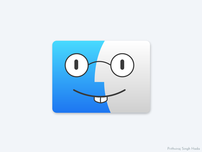 Nerd Finder 101prithviraj illustration icon finder icon apple macintosh finder mac mac os