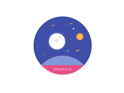 My Coaster sticker pack sticker design sun moon space illustration custom sticker coaster stickermule