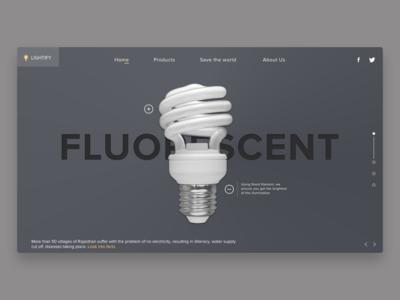 Fluorescent bulb website concept