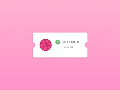 1 Dribbble invitation invite design invite giveaway giveaway invitation invite dirbbble